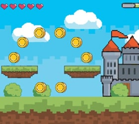 a screenshot from the runners online game